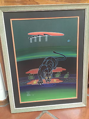 "Adee Dodge Original Painting Framed/matted  23.5"" X 18.5""  1970"