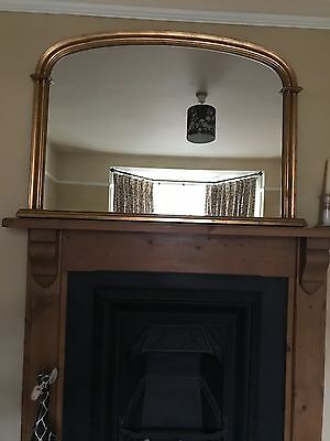 antique-reproduction gilt mirror heavy and very good quality , large overmantle