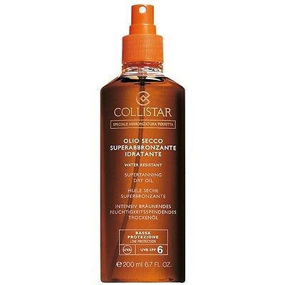 Collistar Huile Sec Super bronzante Hydratante Protection BASSE SPF 6 200 ml