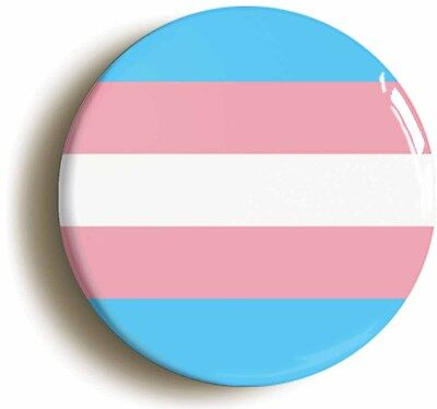 TRANSGENDER BADGE BUTTON PIN (Size is 1inch/25mm diameter) LGBTQ PRIDE