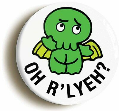 CTHULHU ROLE PLAYING RPG FUNNY BADGE BUTTON PIN SET Size 1inch//25mm diameter