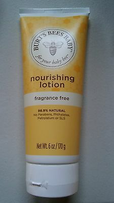 Burt's Bees Baby Bee Nourishing Lotion Fragrance-Free 6 OZ Each New/Sealed