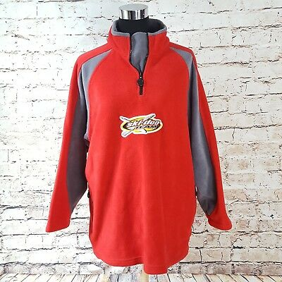 Pit Crew Ski doo Team Fleece Spell Out Red Sweatshirt Pullover Sweater L Large
