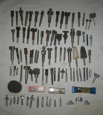 Vintage Batch of 80+ Router Bits – Used – Various Manufacturers