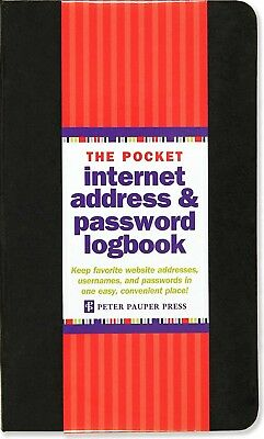Pocket-Sized Internet Address And Password Organizer Logbook NEW