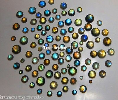 150Ct Wholesale Lot Natural Multi Labradorite Calibrated Round Cabochon Gemstone