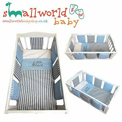 Personalised Boys Individual Bumper Cot Cotbed Bedding Set (NEXT DAY DISPATCH)