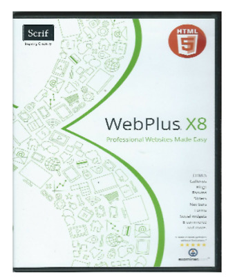 Serif Webplus x8 DVD with 184 page Guide book worth £17 and free post