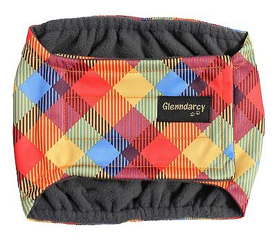 Glenndarcy Male Dog Belly Band Diaper I Urine Incontinence Marking I Rainbow