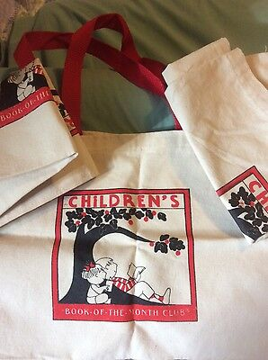 Book of the Month Club totes set of Three