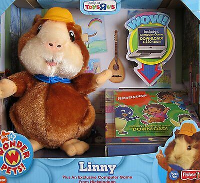 Fisher Price Wonder Pets Plush Linny W/ Computer Game Nickelodeon Tru Excl *new*