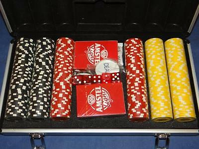 Amstel Light Poker Set In Metal Carry Case New Sealed LOOK! SA2625