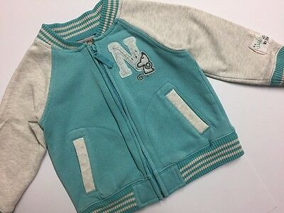 Girl Mouse Range Mint Grey Zip Jumper NEXT Age 18-24 Months 1.5-2 Years
