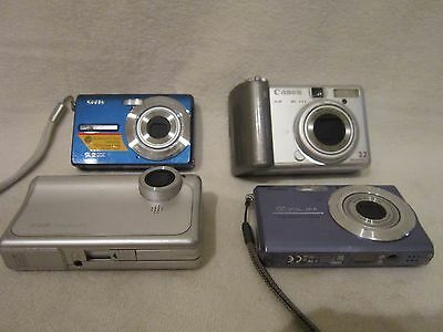 Lot 4 AS IS Untested/For Parts Digital Cameras Kodak, Canon, Casio, RCA