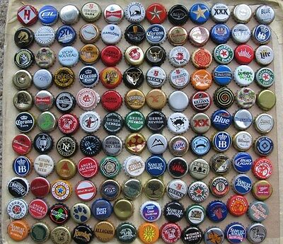 132 Different Mixed Worldwide Beer  Bottle Caps Lot#7