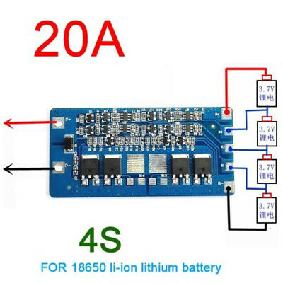 4S  Lithium Battery 18650 Charger Protection Board 14.4//14.8//16.8V 30A ASS