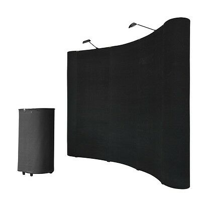 TWO 8ft Portable  Display Trade Show Booths Exhibit Pop Up Kit