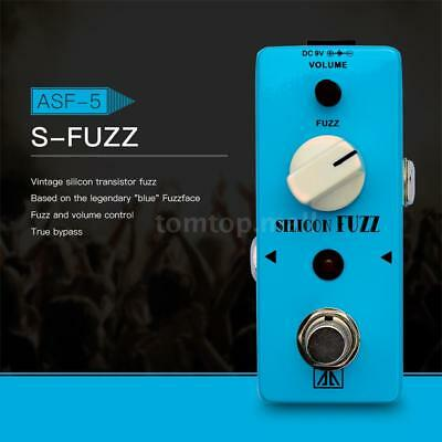 Aroma Asf-5 Classic Silicon Transistor Fuzz Guitar Effect Pedal True Bypass Z7Y6