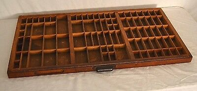 Vintage Hamilton Printers Type Wood Cabinet Drawer Antique Display Shelf CLEAN!