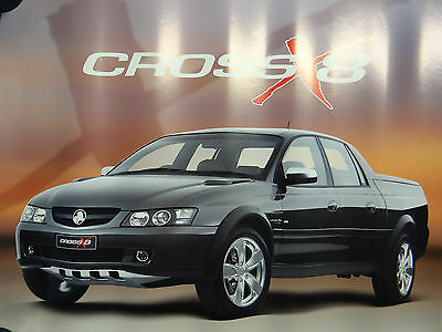 HOLDEN  COMMODORE CROSS  X8  POSTER 59cms X 44cms   UNUSED CONDITION