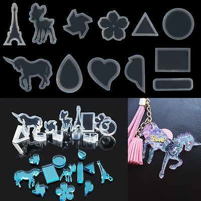 Popular Resin Casting Pendant Silicone Mold Jewelry Mould DIY Geometric Crafts
