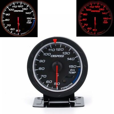 "2.5"" 60mm Universal Car LED Oil Temperature Gauge Meter Kit Auto Oil Temp+Sensor"