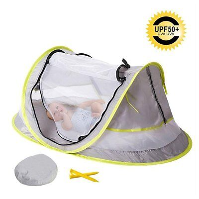 Bersun Instant Portable Pop Up Beach Play Tent, Baby Travel Bed Mosquito Net UPF