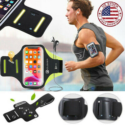 iPhone X/8/Plus/7/XS Max Sport Running Armband Case Joging Arm Band Pouch Holder