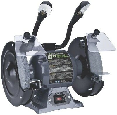 Genesis 8 Inch Bench Grinder With Dual Lights Gbg800l Light New