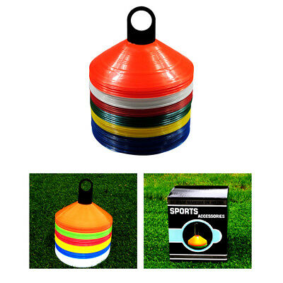 Disc Cones Set Colorful Flexible Plastic Sport Soccer Self Training Equipment