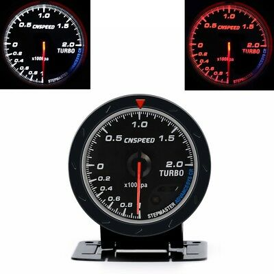"Universal 2.5"" 60MM Turbo Boost Gauge BAR Type Black Face Auto Car Meter+Sensor"