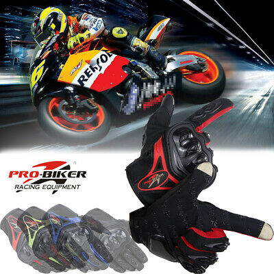 Pro-Biker Summer Breathable Motorcycle Fiber Motorbike Racing Gloves Full M/L/XL