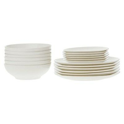 New Maxwell & Williams White Basics Coupe 18 Piece Dinner Set Gift Boxed