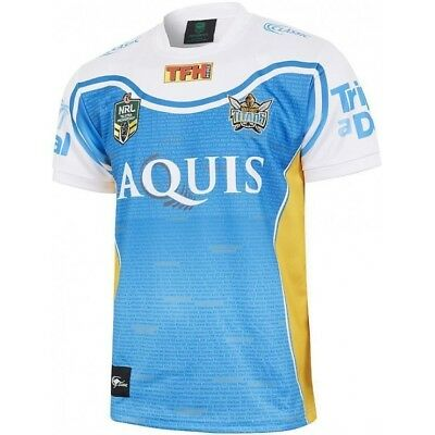 Gold Coast Titans 2017 NRL 10 Year Anniversary Jersey Adults Sizes Available