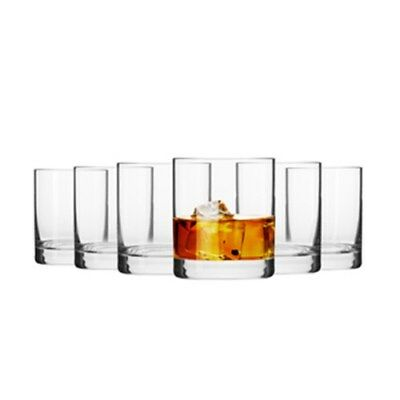 New Krosno Mirage 300ml Whiskey Glass - Set of 6 - Gift Boxed