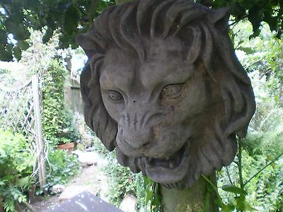 architectural,Vintage English Lions Head,Wall Mounted, Garden Reclamation,1930's
