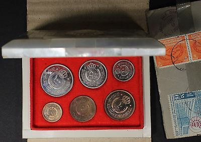 JORDAN 6 Coin Proof set 1965 Mother of Pearl in Original Shipping Box W/ Stamps