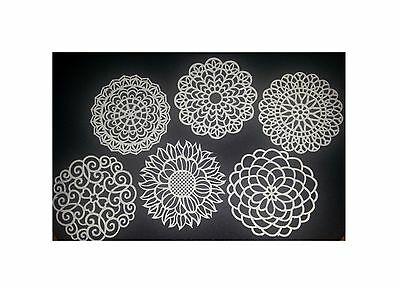 16 ASSORTED LACE DOILIES - Ready To Use & Edible - Cakes, Cupcakes, Or Cookies