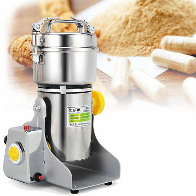 Electric Coffee Grinder Whole Bean Nut Spice Mill Latte 2800W Stainless Steel UK