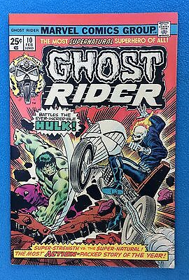 Ghost Rider 10 (February, 1975)  Hulk on Cover, Reprint of Origin (MS #5)   NM