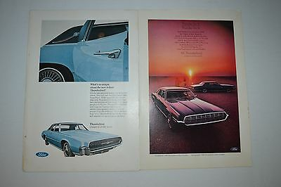 1968 Ford Thunderbird Original Car Advertisement Ad - Mint - Magazine 2 Pages