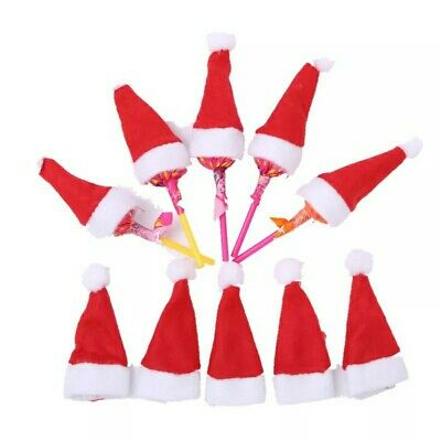 10x Christmas Party Table Home Decoration Xmas Knife Fork Cutlery Hat Holder