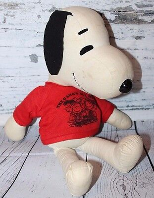 "SNOOPY Plush VINTAGE Stuffed Animal Cute 15"" NICE Cloth The Gang's All Here 1958"