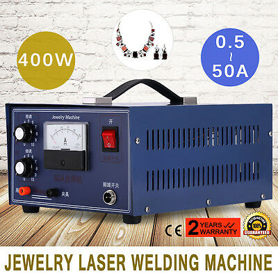 NEW Pulse Sparkle Spot Welder 400W Jewelry Welding Machine Necklace Gold Silver