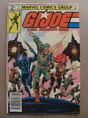 GI Joe A Real American Hero #4 Marvel 1982 Canadian Newsstand $0.75 Variant