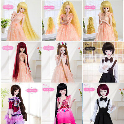 Bangs Hair Piece Long Straight Curly Wig For 1:3 60cm SD BJD Ball-jointed Doll