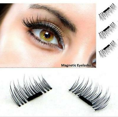 2 Pairs Magnetic Eyelashes 3D Handmade Mink Reusable False Magnet Eye Lashes Set