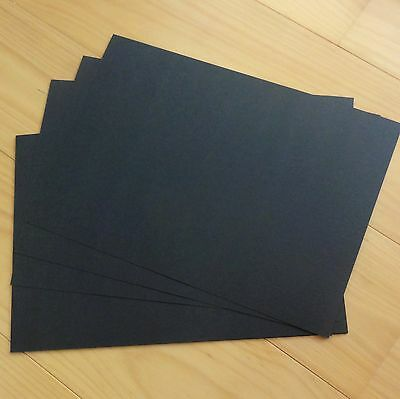 "PREMIUM BLANK 250 GSM A5 CARD x 40 SHEETS ""SMOOTH BLACK"" - NEW"