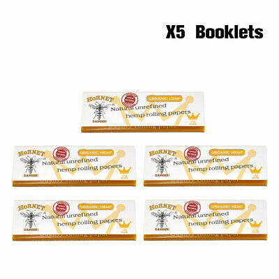 4 X Hornet White Cigarette Smoking Rolling Paper+120 Pre-Rolled Filter Tips