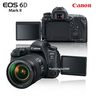 Canon EOS 6D Mark II  6D Mark 2 Full Frame Only Body -25 Languages Selectable
